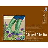 Strathmore STR-462-118 15 Sheet No.140 Mixed Media Pad, 18 by 24""