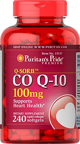 Cheap Puritans Pride Qsorb Co Q10 100 Mg Rapid Release Softgels, 240 Count