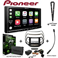 Pioneer MVH-1400NEX 6.2 Digital Media Receiver iDatalink KIT-CHK1 Dashkit for Jeep cherokee, BAA23 Antenna Adapter, and ADS-MRR Interface Module and a SOTS Lanyard