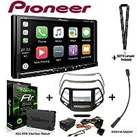 Pioneer MVH-2300NEX 7 Digital Media Receiver iDatalink KIT-CHK1 Dashkit for Jeep cherokee, BAA23 Antenna Adapter, and ADS-MRR Interface Module and a SOTS Lanyard