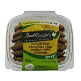Aunt Gussies Sugar Free Spelt Chocolate Chip Almond Biscotti 8 Oz. (Pack of 8)