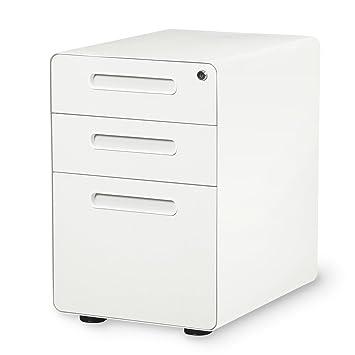 DEVAISE 3 Drawer Mobile File Cabinet With Anti Tilt Mechanism,Legal/Letter