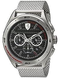 Ferrari Men's Quartz Stainless Steel Automatic Watch, Color: Silver-Toned (Model: 830347)