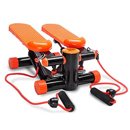 Stepper Machine +Resistance Bands Aerobic Shape Thigh Leg Gym Step (Orange)