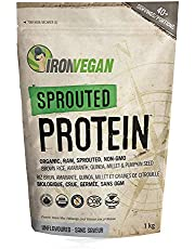 Iron Vegan Protein Powder - Sprouted Protein, Unflavoured, 1kg   Vegan, plant-based, organic, gluten-free