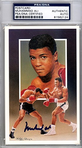 Muhammad Ali Authentic Autographed Signed 3.5x5.5 Postcard #81562124 PSA/DNA Certified Boxing Cut Signatures