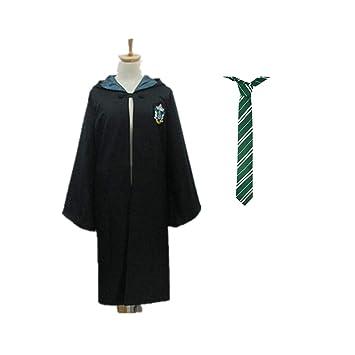 Robe De Gryffindor Cosplay Cape Noire Avec Capuche Manteau Harry