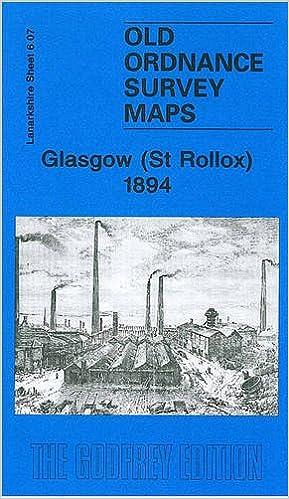 OLD ORDNANCE SURVEY MAPS GLASGOW HILLHEAD LANARKSHIRE 1894 Godfrey Edition New
