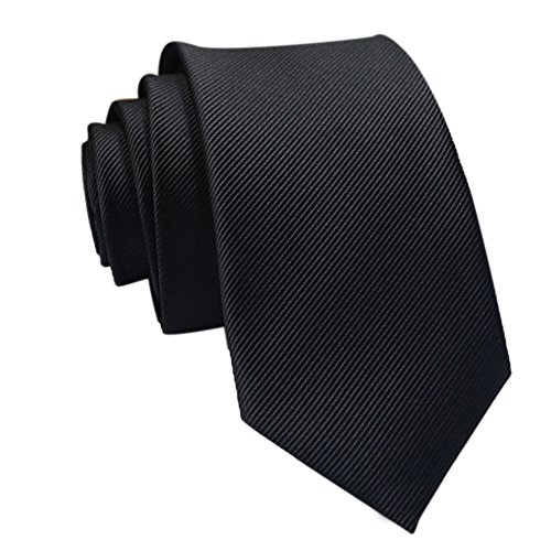 Gifts For Men ! Charberry Mens Trendy Solid Color Tie Casual Slim Plain Mens Solid Skinny Neck Party Wedding Necktie (A) from Charberry
