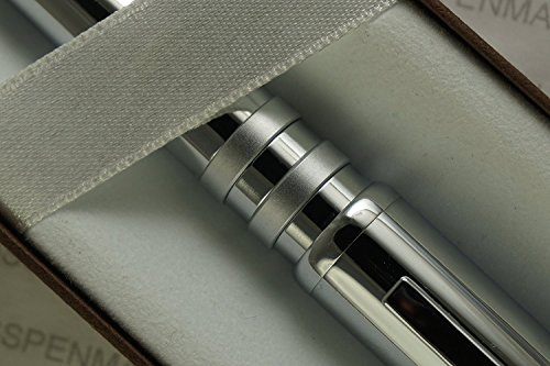 Cross Mason Executive Companion with Extremely Polished Chrome Barrel with Cross Signature Satin Rings Ballpoint Pen. A great gift for any occasion -Graduation , Birthday , ordination etc - Executive Birthday Gifts