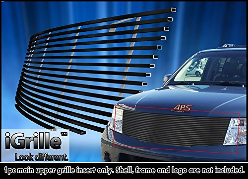 Pathfinder Billet (Black Stainless Steel eGrille Billet Grille Grill For 2005-2007 Nissan Pathfinder/Frontier)