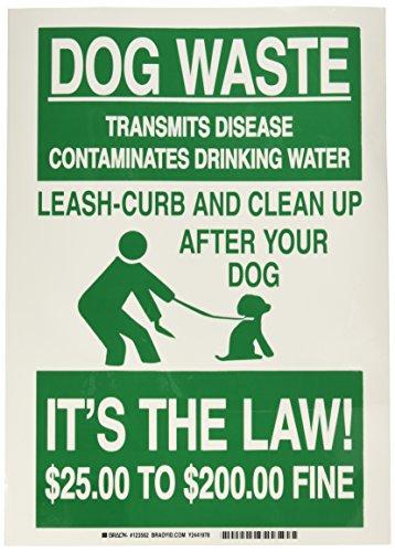 Brady 123562 Environment Transmits Contaminates