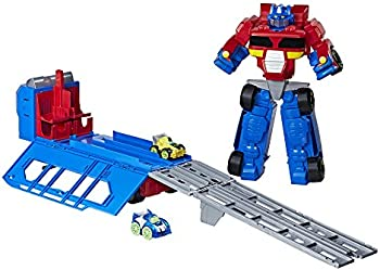 Playskool Heroes Transformers Race Track Trailer Playset