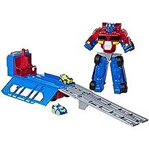 Playskool Heroes Transformers RBT Optimus Prime Race Track Trailer Playset