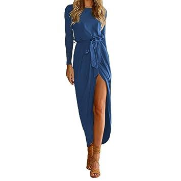 ❤ Vestidos Largos Mujer,Modaworld Vestido Largo Maxi Mujer Boho de Manga Larga Vestidos de Playa Vestido de Fiesta de Noche niña Vestido Casual Elegante ...