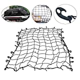Yaetek 72'' x 96'' Bungee Cargo Tie-Down Net,Luggage Net with ABS Hook for ATV or UTV Racks, Pickup Truck beds, Roof Racks, Boats, Campers, and More
