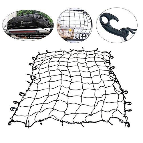 Yaetek 72'' x 96'' Bungee Cargo Tie-Down Net,Luggage Net with ABS Hook for ATV or UTV Racks, Pickup Truck beds, Roof Racks, Boats, Campers, and More by YaeTek