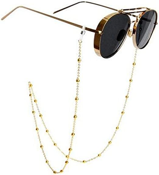 Suertree Edelstahl Brille Snake Kette Sonnenbrille Kette fur Damen Lesebrille Gurt Brille Halter Gl/äser Schnur Silber Gold