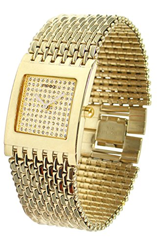 Moog Paris Luxury Women's Watch with Champagne Dial, Gold Stainless Steel Strap & Swarovski Elements - M46056F-003