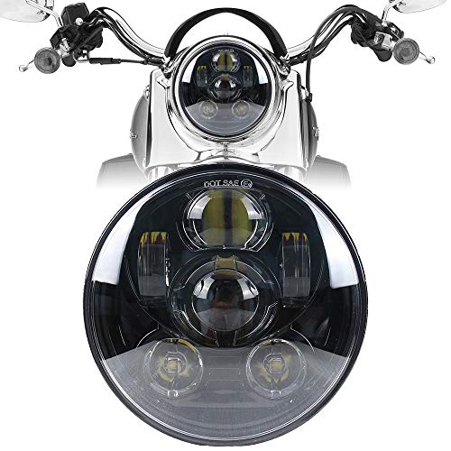 Motorcycle Headlight 5.75 Inch 5 3/4