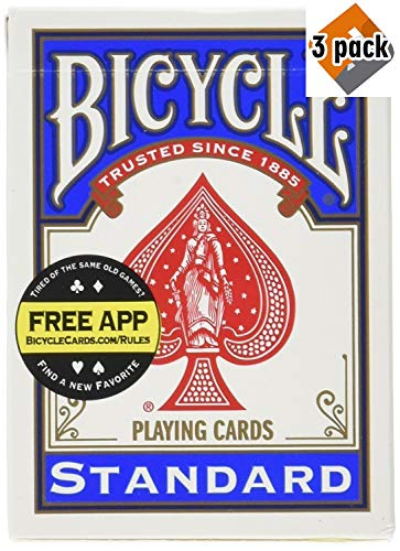 Poker Bike (Bicycle Poker Size Standard Index Playing Cards (RED & Blue, 9 Decks), 3 Pack)
