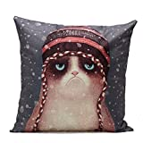 Winhurn Animal Print Festival Pillow Case for Sofa Bed Home Decoration...