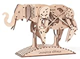 African Elephant Animate Wooden Mechanical 3d Puzzle
