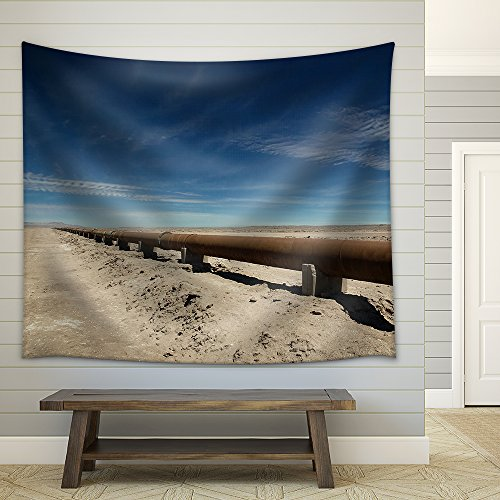 wall26 - Rusty Pipeline Through the Atcama Desert, Chile. - Fabric Wall Tapestry Home Decor - 68x80 - And Color Polarization