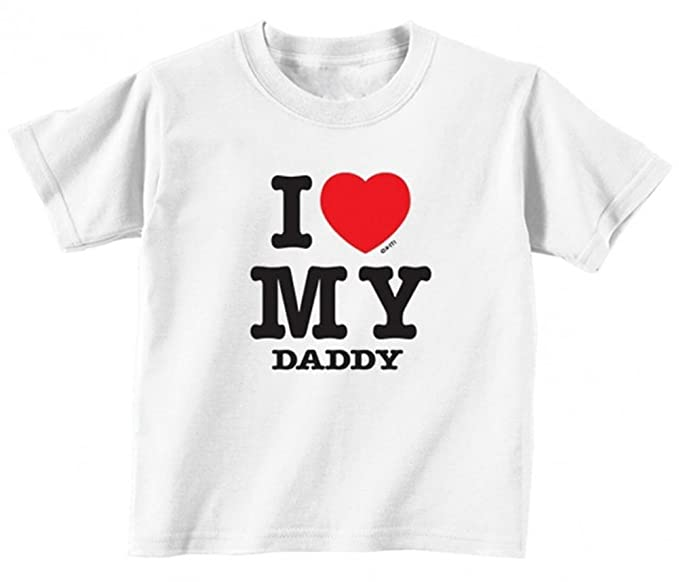 48c478cb Amazon.com: I Love My Daddy Toddler Kids T-Shirt: Clothing