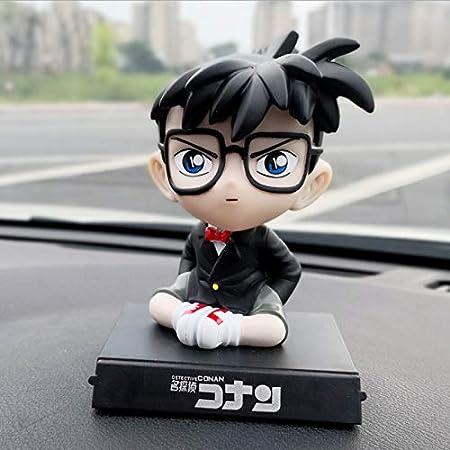 Anime Detective Conan Case Cerrado 10 Cm Bobble Head Dolls PVC Figura Modelo Juguetes Car Decoration Phone Holder Holder 10cm B