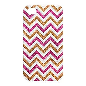 Loud Universe Apple iPhone 4/4s 3D Wrap Around Glitter Print Cover - Multi Color