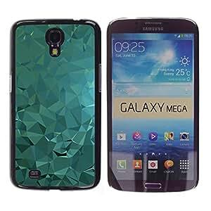 TopCaseStore / la caja del caucho duro de la cubierta de protección de la piel - Polygon Abstract Fluid Water Light - Samsung Galaxy Mega 6.3 I9200 SGH-i527