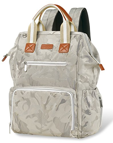 Diaper Bag Backpack Wide Open Designer Travel Baby Nappy Bags With Changing Pad Insulated Pocket For Women And Men