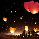 2PCS Wedding Balloons Flying Paper Sky Lanterns Chinese Paper Wish Floating Lamps Lights Birthday Party Decoration