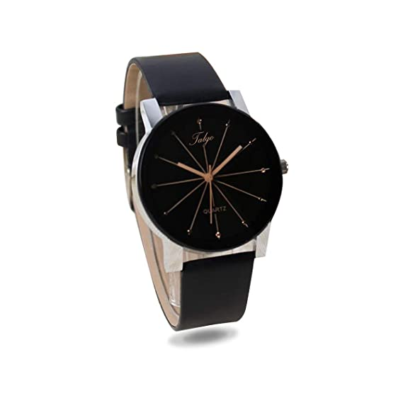 e7ace2d2a98d Buy Talgo Analogue Black Dial Black Leather Strape Quartz Movement Women s  Watch - 5049 Online at Low Prices in India - Amazon.in