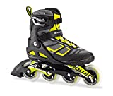Rollerblade Macroblade 90 Alu Men's Adult Fitness Inline Skate, Black and Lime, High Performance Inline Skates, Black/Lime, US Men's 10