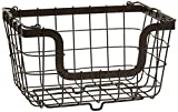 Gourmet Basics by Mikasa General Store Stacking/Nesting Metal Basket, Antique Black by Gourmet Basics by Mikasa