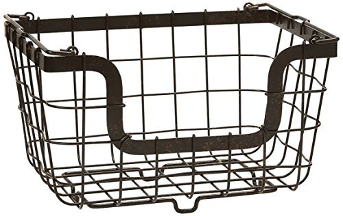 Gourmet Basics by Mikasa General Store Stacking/Nesting Metal Basket, Antique Black by Gourmet Basics by Mikasa by Gourmet Basics by Mikasa