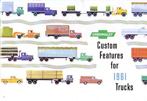 - 1961 Chevrolet Truck Accessories Sales Brochure Literature Book Piece Options
