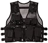 Modern Warrior Junior Tactical Vest - Airsoft & Paintball Accessory - Fits Teens 50-125lbs (Black)