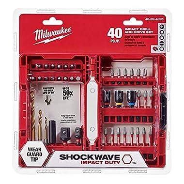 Milwaukee Electric Tool 48-32-4006 Shockwave Bit Set (40 Piece)