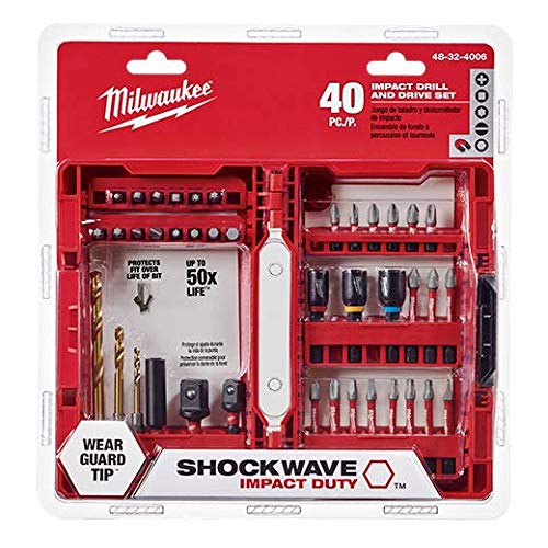 Milwaukee Electric Tool 48-32-4006 Shockwave Bit Set (40 Piece) (Bit Drill Kits)