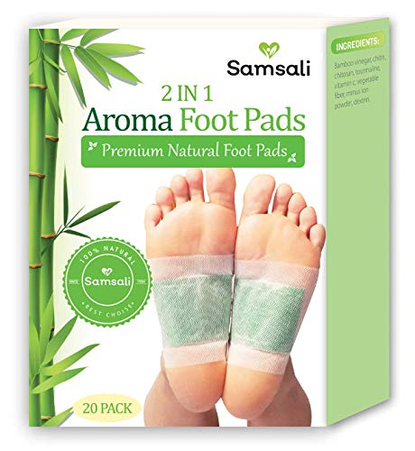 Samsali Foot Pads, Upgraded 2 in 1 Nature Foot Pads, Rapid Foot Care and Pain Relief, Higher Efficiency Than Foot Sleeve and Metatarsal Pads, Best Foot Pads for Foot Care, 20 Packs