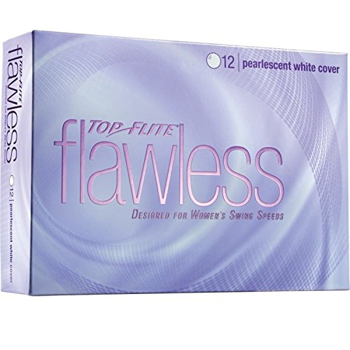 - Top-Flite Flawless Pearlescent White Golf Balls - 12 Count Designed for Women's Swing Speeds