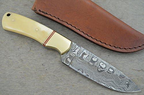 Leather-n-Dagger Custom Handmade Damascus Steel Hunting Knife Great Gift LD97