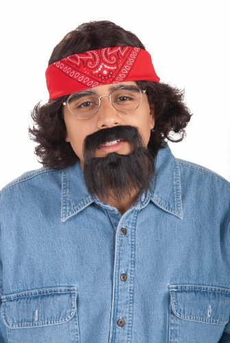 Chong Halloween Costumes (Forum Novelties Mens Tommy Chong Halloween Party Costume Kit Black O/S)