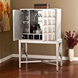 Southern Enterprises Sofia Bar Sideboard Cabinet in Silver