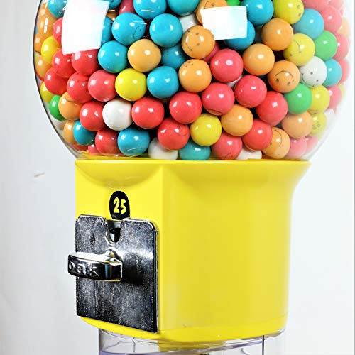 Spiral Gumball Machine Lil Wizard 27 inch - set up for $0.25 - Gumballs 1 inch - Toys in Round Capsules - 1'' Bouncy Balls 25 mm - Yellow Vending Gum Machine - Great Gift for Kids by Global Gumball (Image #6)