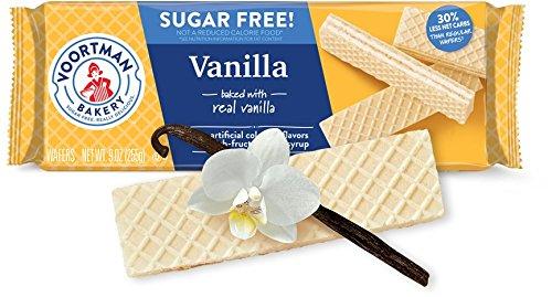 - Voortman Bakery, Sugar Free Vanilla Wafer Cookies, Delicious, Crisp Wafer Cookies, 9oz Bag, Pack of 4