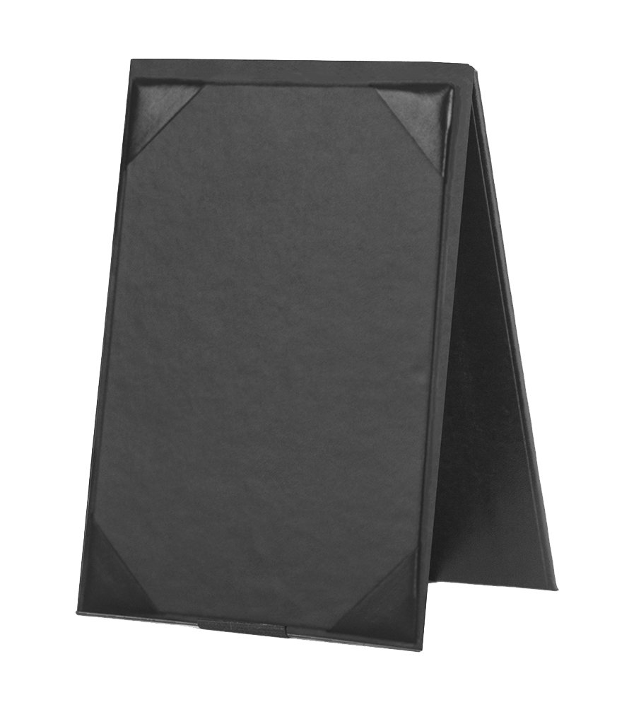 Risch TENT 4X6 BLACK Hardback Two Sided Table Tent, 4'' x 6'', 4.5'' Width, 0.5'' Height, 6.5'' Length, Black (Pack of 12)